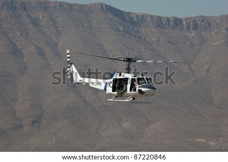 EL PASO – OCTOBER 21: Customs & Border Patrol puts on an aerial display during the practice session at the 30th Anniversary Amigo Airsho on October 21, 2011 in El Paso, Texas.