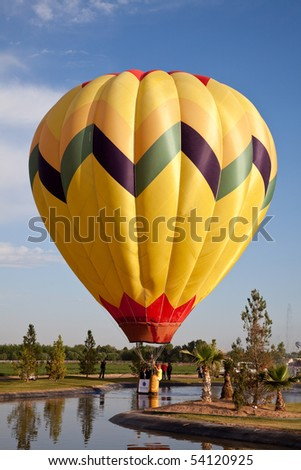 EL PASO, TEXAS - MAY 29.  The 25th annual KLAQ International Balloonfest was held at Grace Gardens with over 30 hot air balloons launched on the morning of May 29, 2010 in El Paso, Texas.