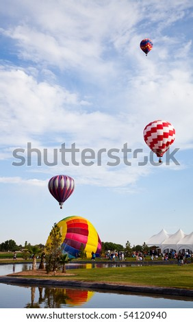EL PASO, TEXAS- MAY 29.  The 25th annual KLAQ International Balloonfest was held at Grace Gardens with over 30 hot air balloons launched on the morning of May 29, 2010 in El Paso, Texas.