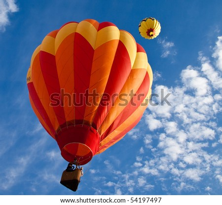 EL PASO, TEXAS - MAY 29:  The 25th annual KLAQ International Balloonfest was held at Grace Gardens with over 30 hot air balloons launched on the morning of May 29, 2010 at El Paso, Texas.