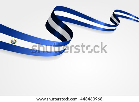 El Salvador flag background. Raster version.