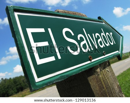 El Salvador road sign