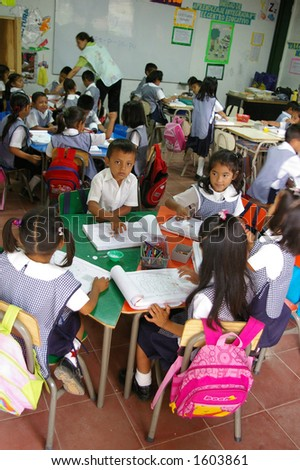 el salvadoran school children
