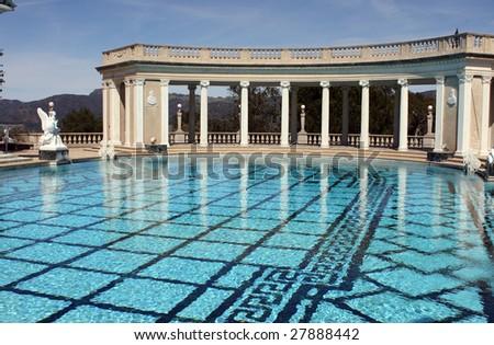 Elaborate roman style swimming pool stock photo 27888442 for Elaborate swimming pools