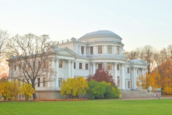 Elaginoostrovsky Palace is summer imperial palace on Elagin Island in St. Petersburg, Russia.