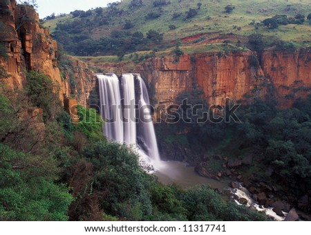 Elands River Falls in Mpumalanga state of South Africa