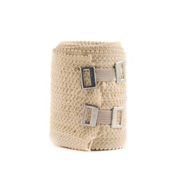 Elastic ACE compression bandage warp isolated over white background
