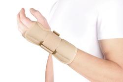 Elastic Wrist Bandage. Orthopedic medical Fitness Hand Bandage. Elastic Wrist Injury Support. Sport Protective Wristband. Wrist Positioning Orthosis. Wrist pain.