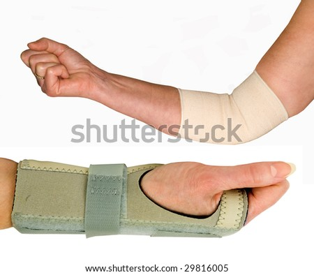ELBOW AND WRIST SUPPORT ON A WHITE BACKGROUND