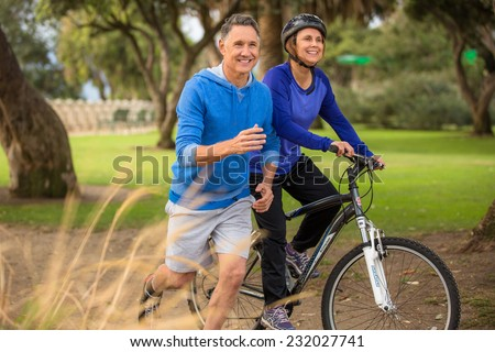 Shutterstock Elder couple exercising in the park