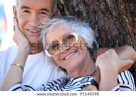 Elderly couple enjoying each other's company