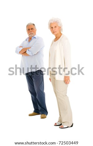 elderly couple separated