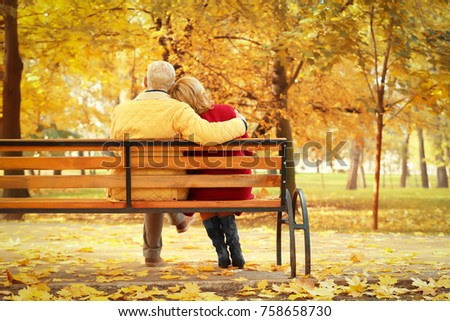 Royalty Free Couple On A Bench Two Lovers Sitting 223968511