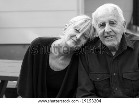 elderly father and his daughter