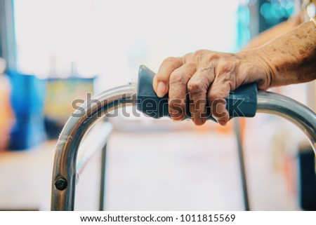 elderly female patient hand and ...