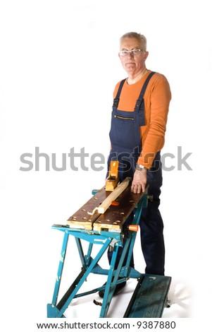 elderly handyman