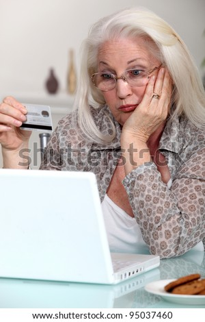 Elderly lady confused by prospect of shopping on line