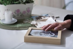 Elderly lady missing her dead husband