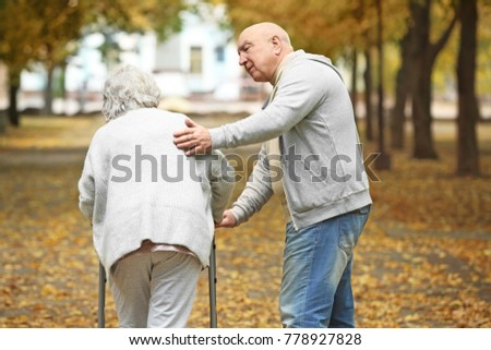 Free photos Sick old man walking with a walker | Avopix.com