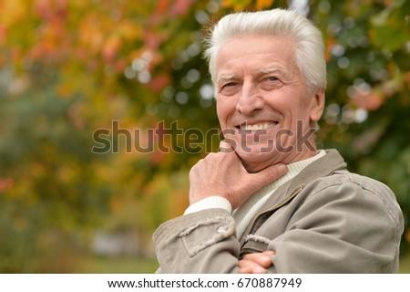 Elderly man in park #670887949
