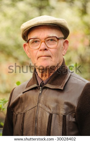 Elderly man outdoors