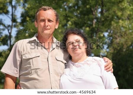 elderly pair