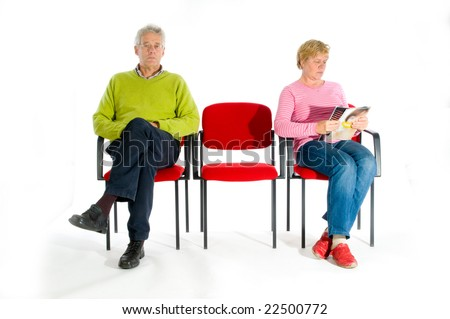 Elderly people in the waiting room by the doctor