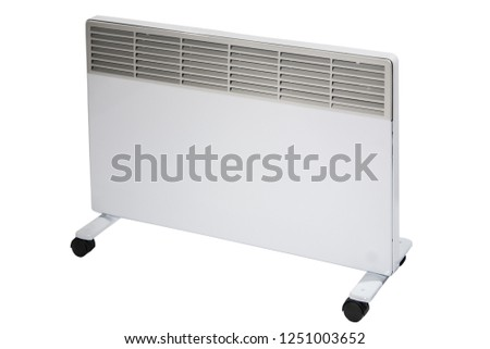 electic convection heater isolated on the white #1251003652