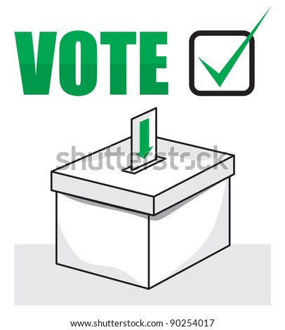 election box - ballot box. Vector format is also available in my gallery