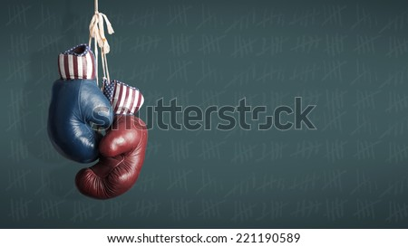 Election Day 2014 - Democrats and Republicans in the campaign Stock foto ©