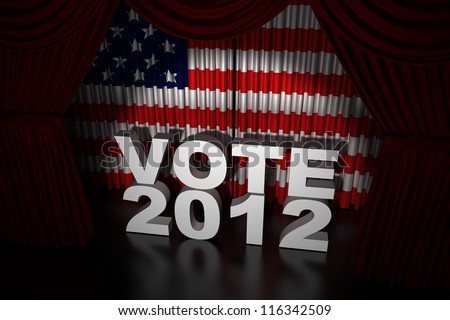 Election Day Usa 2012 - Render of stage curtain