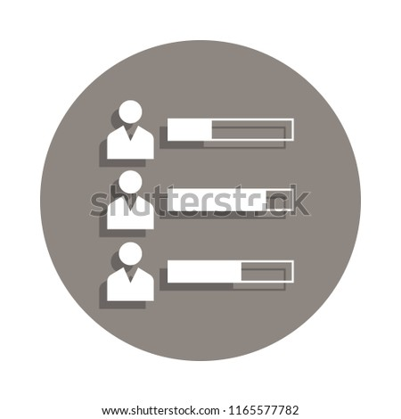 election participants icon in badge style. One of Election collection icon can be used for UI, UX on white background