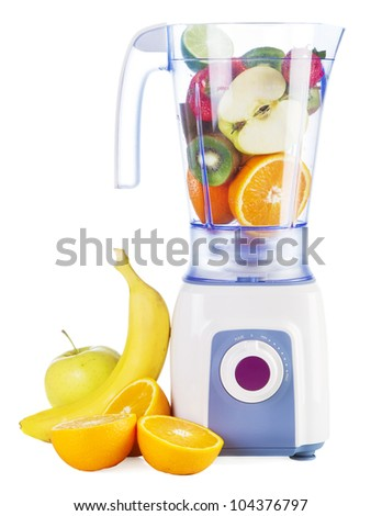 Electric blender isolated on white background