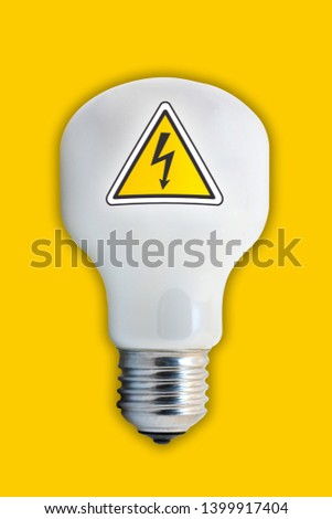electric bulb and electric voltage symbol #1399917404
