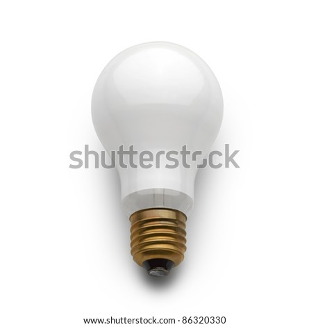 Electric bulb lamp on white background
