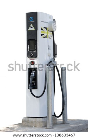 electric car charging station for zero emissions and green future to save our planet