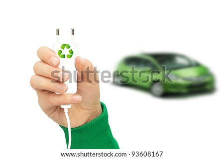 Electric cars with eco energy