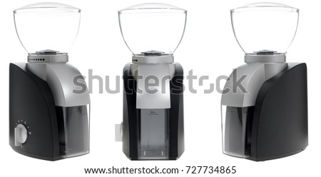 electric coffee grinder. Isolated on white background