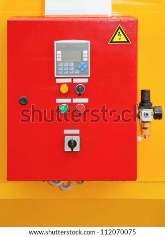 Electric control box for fuses with switches