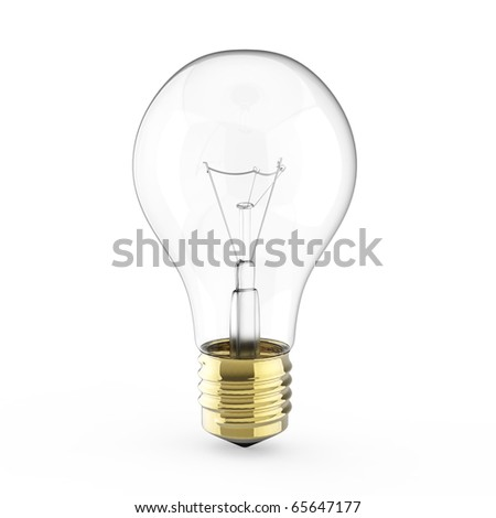 Electric 3d Light bulb isolated on white