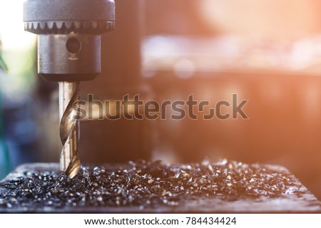 Electric drill with a drill