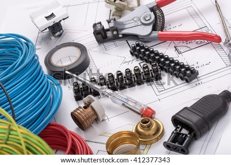 Electric equipment on a plan