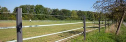 Electric fence at a field