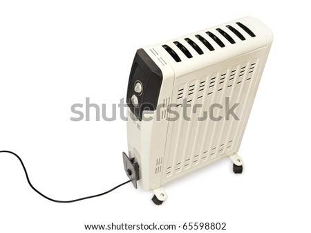electric fire isolated on a white background