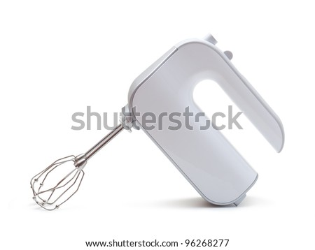 Electric food mixer on a white