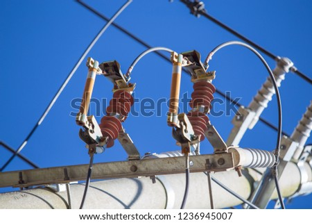 Electric fuse on the power poles #1236945007