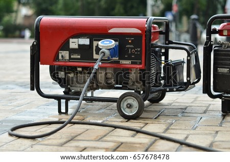 electric generator on city street