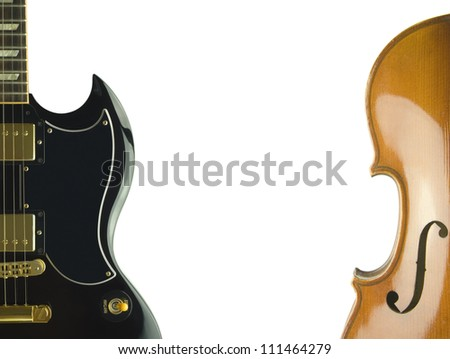 electric guitar and violin'bodies