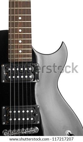 Electric guitar close-up