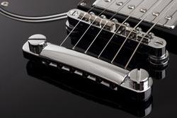 Electric guitar close-up with selective focus
